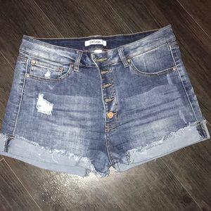 Refuge High-Waisted Jean Shorts